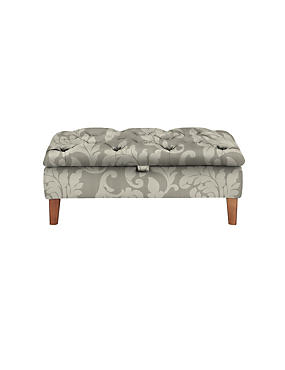 Buttoned Storage Footstool