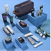 A selection of men's skincare