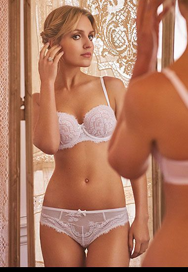 Bride in luxury lingerie