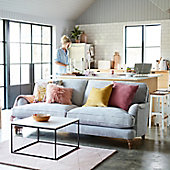 Rochester sofa with cushions in living room
