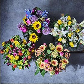 Four seasonal bouquets