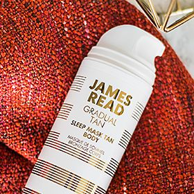 James Read Sleep Body Tan Mask on a marble counter