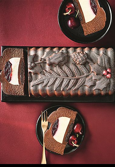 Belgian chocolate and cherry dessert