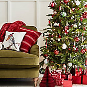 Sofa with Christmas tree