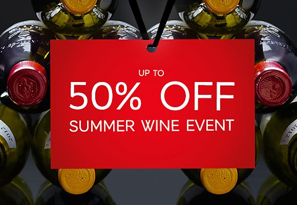 50% off wine in our summer sale