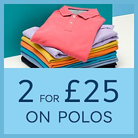 74311f6b8 Mulitcoloured men's polo shirts in a stack