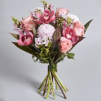 Bouquet of pastel-coloured flowers