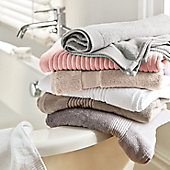 Stack of towels on a bath