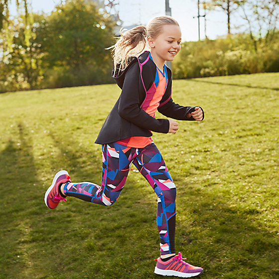 girls colourful running sports leggings