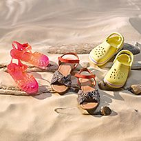 Selection of kids' summer shoes