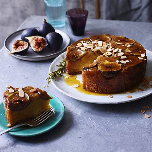 A fig and almond upside down cake