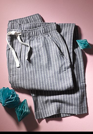 Striped men's lounge trousers