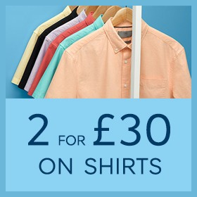 3686912b A rail of men's short sleeve casual shirts of various colours