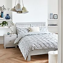 Arlo double bed and bedside table