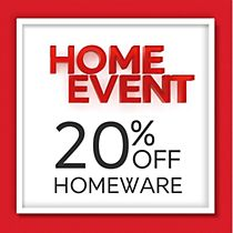 Save 20% on homeware and up to 40% on Furniture