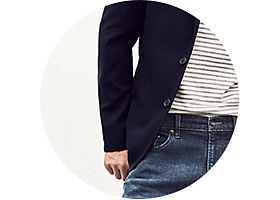 Mens jeans and blazer