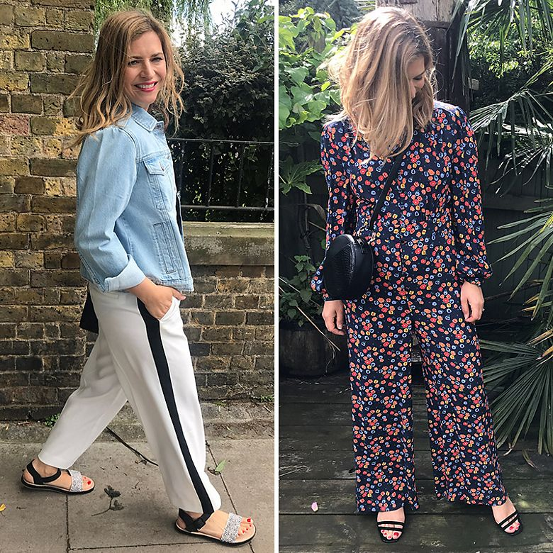 M&S Insider Rachel wearing trousers and jumpsuit