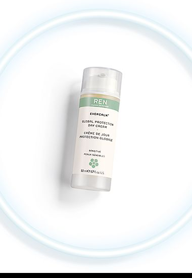 REN Evercalm™ Global Protection Day Cream in a petri dish