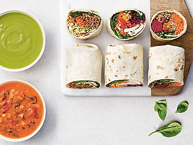 Super soups and veg-packed wraps