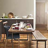 Sanford Parquet dining table and chairs