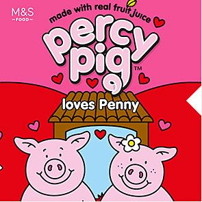 Percy Pig loves Penny sweet packet