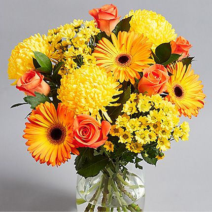 Bouquet of bright autumn flowers
