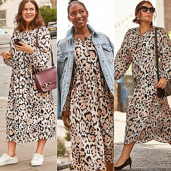 Leopard-print dress for autumn