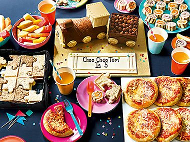 Children's cake and party food